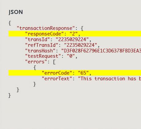 Authorize Net API Documentation
